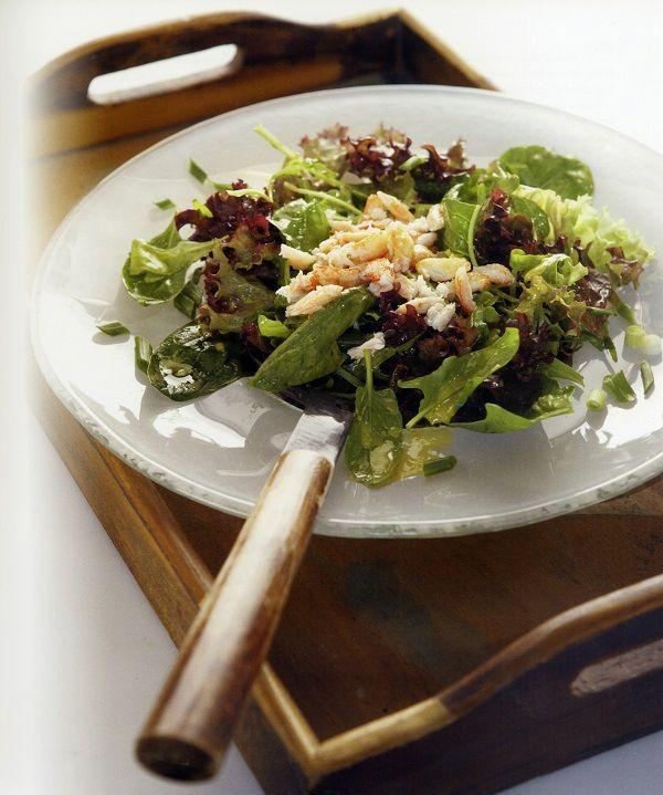 prasini salata me kavouropsixa