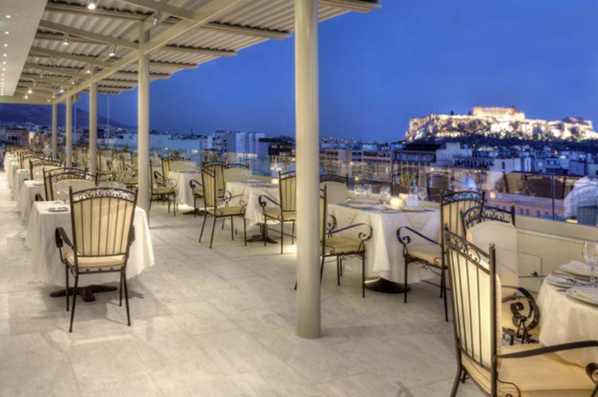 03.-Titania-Hotel-_-Olive-Garden-veranda_-Acropolis-view-(night)
