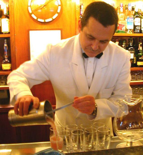 Barman-at-Harry's-Bar