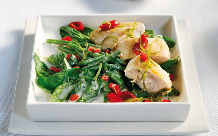 Green beans and sweet chili chicken salad - www ...