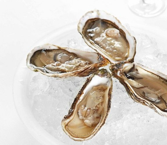 Oysters-on-ice-with-lemon--575x502