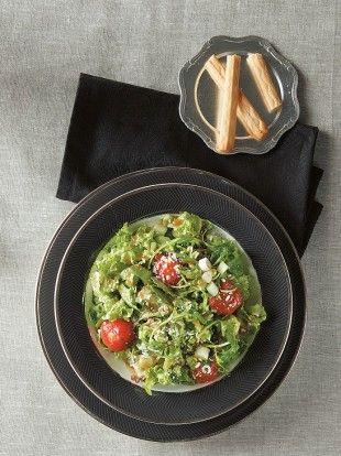prasini salata me graviera