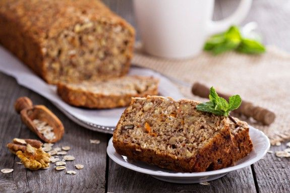26886428 - vegan banana carrot bread with oats and nuts