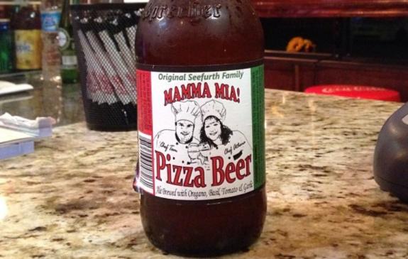 pizza beer