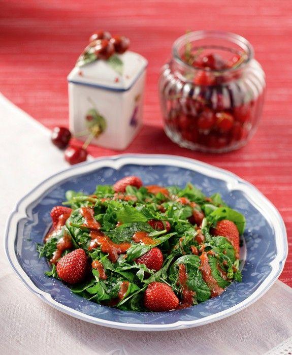 salata me spanaki k dressing fraoulas