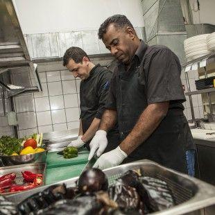 Adel-at-Vasilenas-with-Chef-Manos-2