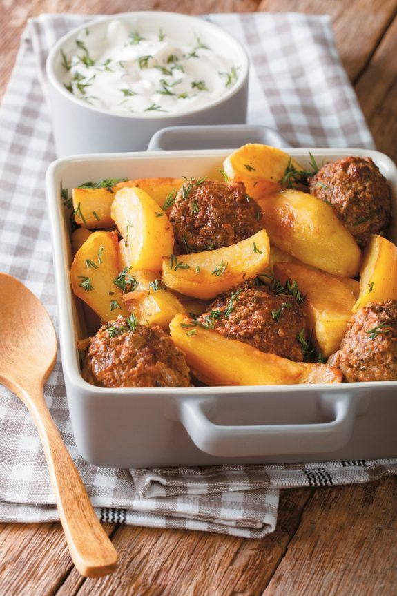 Meatball And Potato Bake Www Olivemagazine Gr