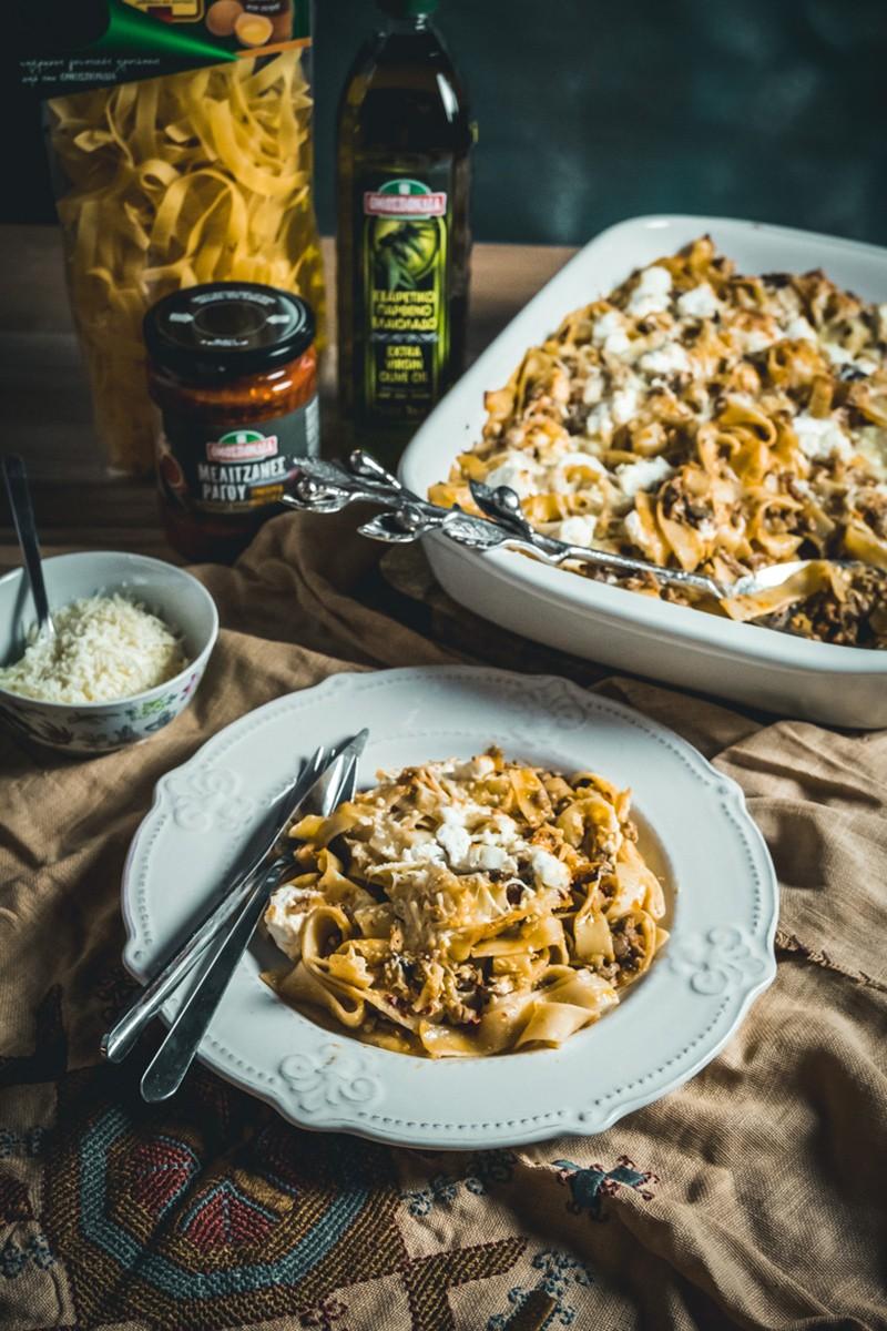 Χυλοπίτες στο φούρνο με αρνίσιο κιμά, ραγού μελιτζάνας και τυριά - www.olivemagazine.gr