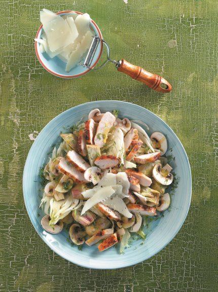 Σαλάτα με αγκινάρες και κοτόπουλο - www.olivemagazine.gr